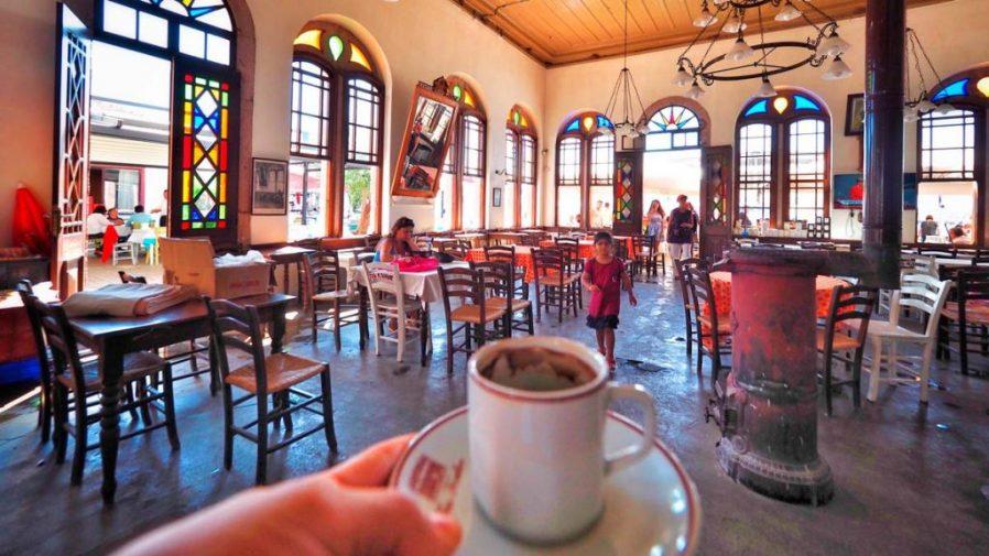 cunda adası taş kahve