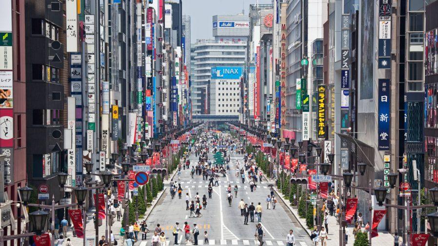 Ginza Bölgesi'nde Alışveriş Yapın