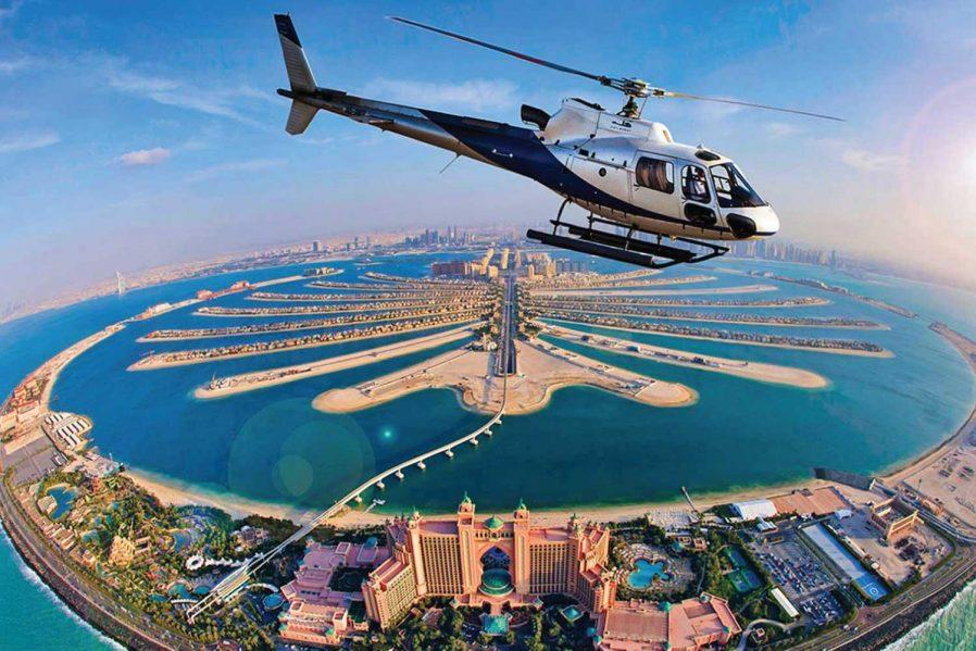 Helikopterle Dubai'yi Gökyüzünden Seyredin
