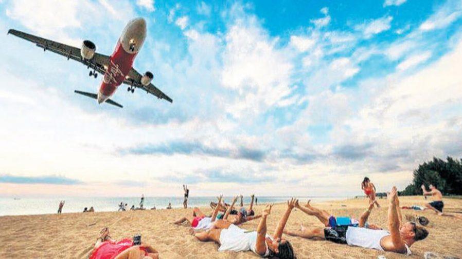 Mai Khao Adası'nda Uçak Yakalayın