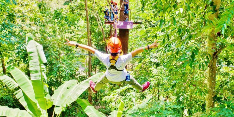 Tropik Ormanlarda Zipline Yapın