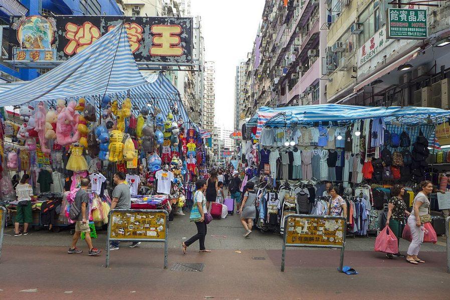 Kowloon Bölgesinde Kurulan Pazarlar